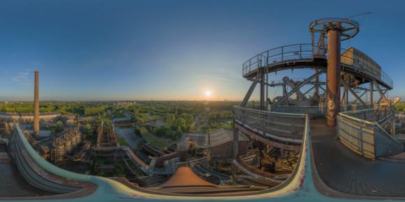 Panorama mit Tiefblick