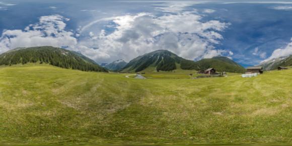 Panorama mit Fisheye bei einer Wanderung
