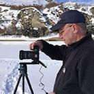 Einsatz mit Skistöcken für ein zylindrisches Panorama
