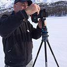 Einsatz mit Skistöcken für ein sphärisches Panorama