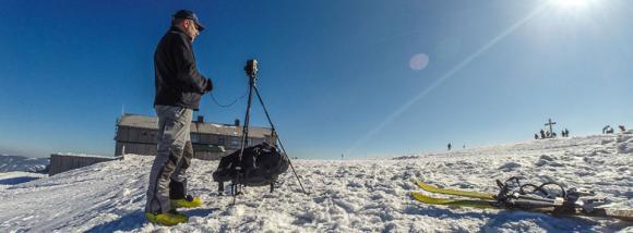 TrioPod bei einer Skitour