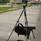 Aufhängung eines Fotorucksacks im TrioPod